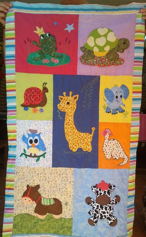 Childrens Patchwork Quilt Patterns - colcha bebe patchwork animales quilt patchwork