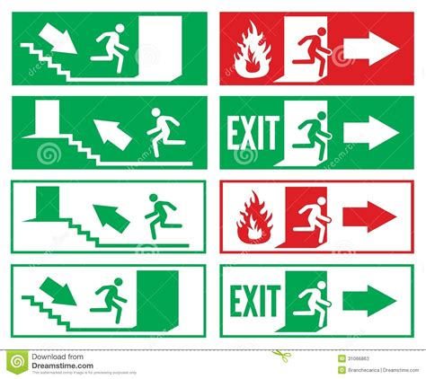 Office Floor Plan Symbols emergency exit sign stock photos image 31066863