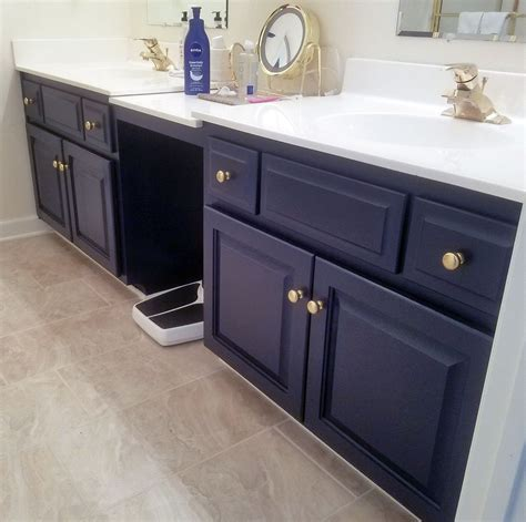 Coastal blue bathroom vanity general finishes design center