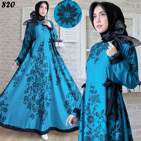 Baju Wanita Gamis Maxmara Syarii Muslim Cantik Modern Modis Lucu gamis modern maxmara maxi 820 baju muslim remaja terbaru
