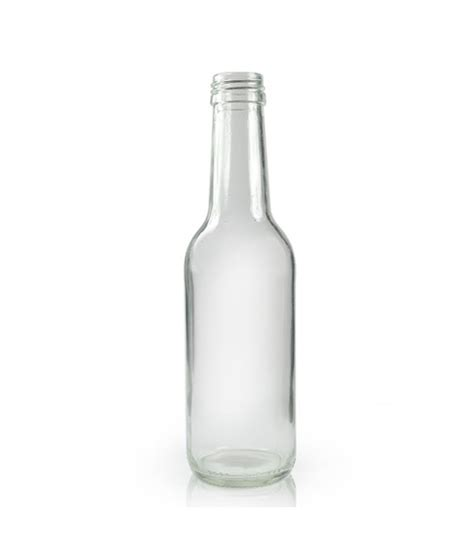 Glass Bottles traditional 250ml clear glass drinks bottle