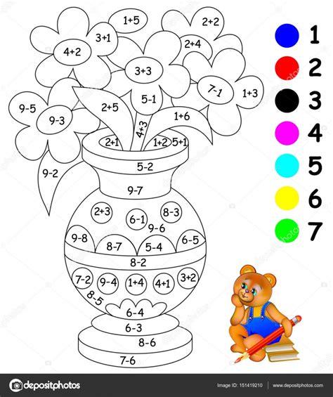 preguntas faciles de matematicas para niños pagina para pintar graficos infantiles para pintar y
