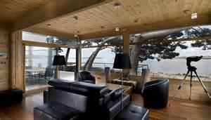 maison en bois construite en au design int 233 rieur