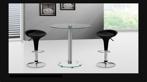 Glass Bar Table And Stools Clear Glass Bar Table And Stools Homegenies