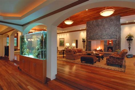 Homes Interior Decoration Ideas where to place the fish tank in the house