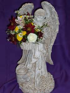 Flower Baskets For Funerals - funeral flowers with angel