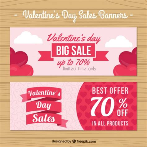 valentines sale 14 free vector s day banners freecreatives
