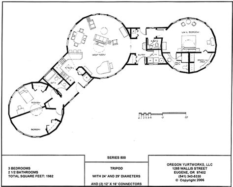 yurt home floor plans interconnected yurt house or separate circular