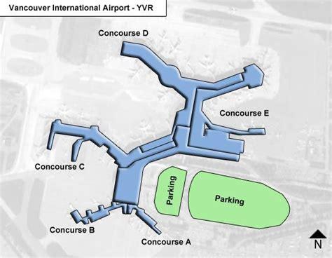 Air Canada Center Floor Plan Vancouver Yvr Airport Terminal Map
