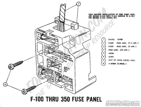 71 f100 fuse box 16 wiring diagram images wiring
