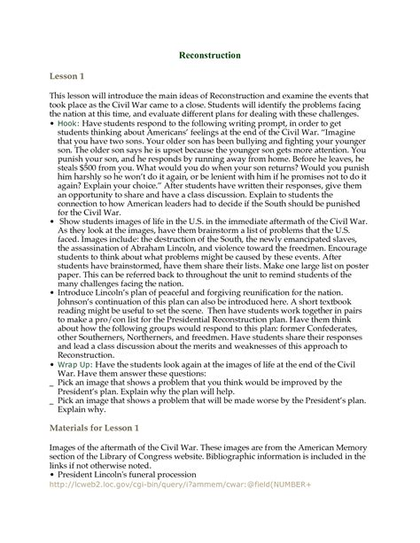 outline worksheet for research paper 14 best images of reconstruction period worksheet civil