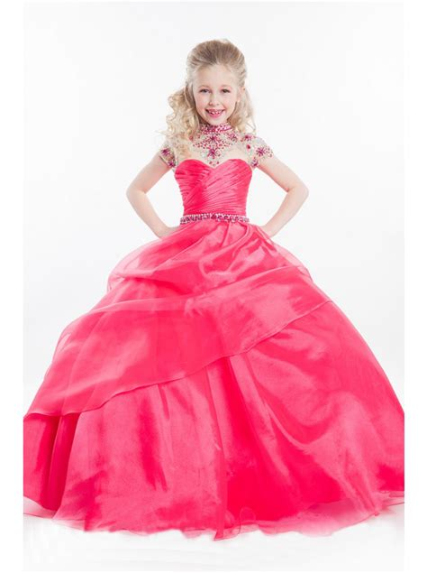 little girl beauty pageant dresses aliexpress com buy hot pink glitz little girls pageant