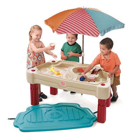 Step 2 Water Table With Umbrella by Step2 Sand Water Table Hello Splendid