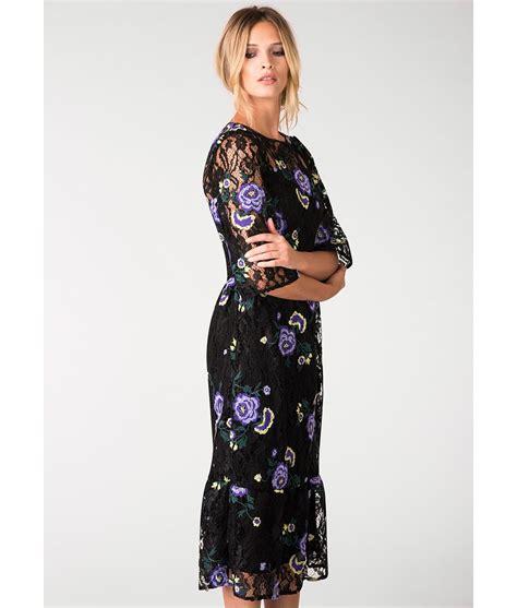 dresses for closet floral black lace midi dress alila boutique