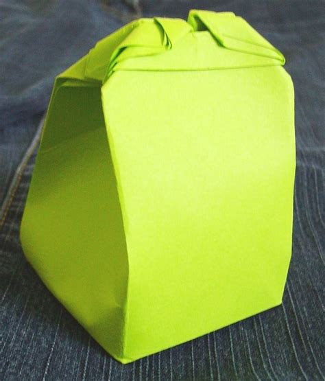Origami Gift Bag - origami gift bag lime green by weberquetzal on deviantart