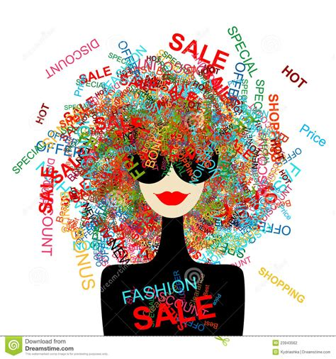 Sale Fashion i sale fashion with shopping concept stock