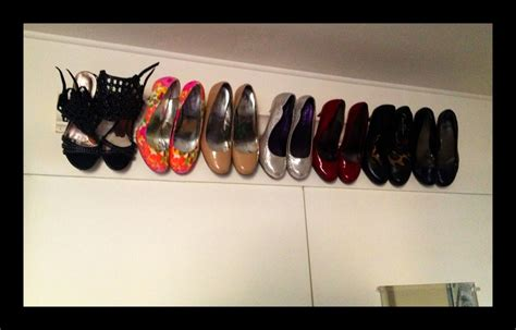 crown molding was used to create this shoe rack i looked