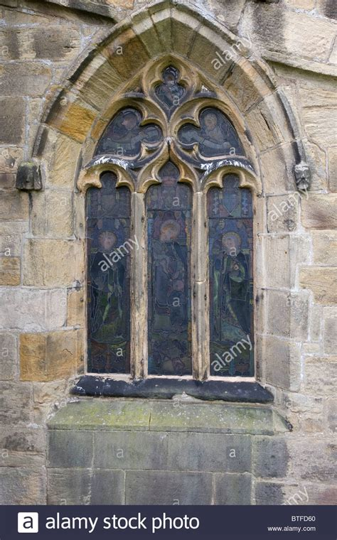 Arched Church Windows Inspiration Style Arched Window With Stained Glass At St Nicholas Church Stock Photo Royalty Free