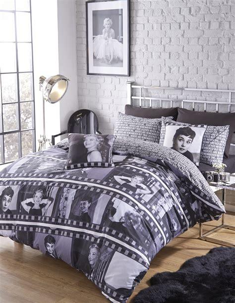 Marilyn monroe audrey hepburn duvet quilt cover bedding bed set bedlinen movie ebay