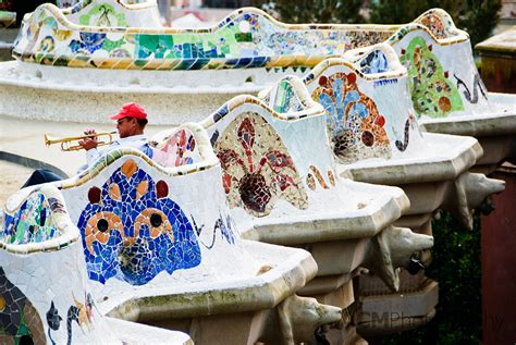 park guell bench barcelona spain photo gallery acm photography