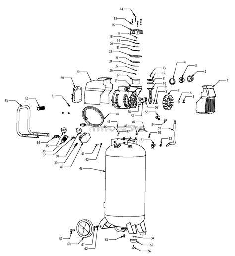 husky f226vwd 585 819 585819 air compressor parts husky parts