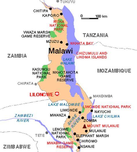 Malawi Map Travelsfinders Com