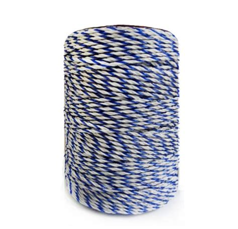 white blue electric fence wire polywire with steel wire