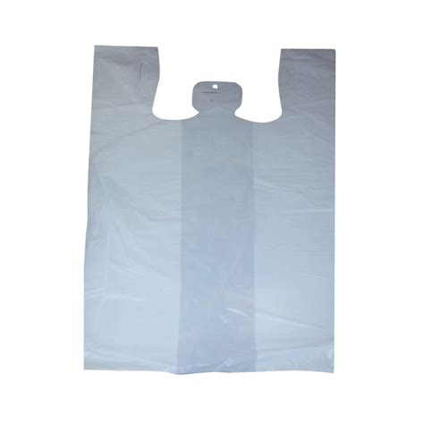 X8 Deanna T Shirt White plastic carry out wholesale distributor of food service