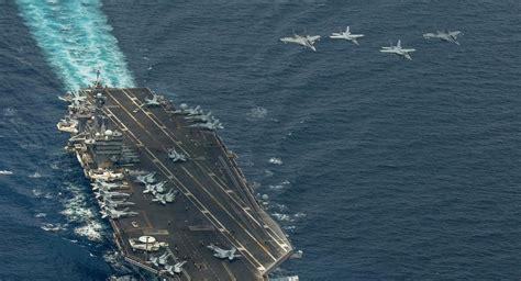 portaerei usa usa inviano la portaerei carl vinson verso le coste della