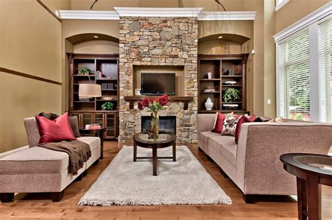 living room with stone fireplace stone fireplace mantels bedroom rustic with bedroom bench