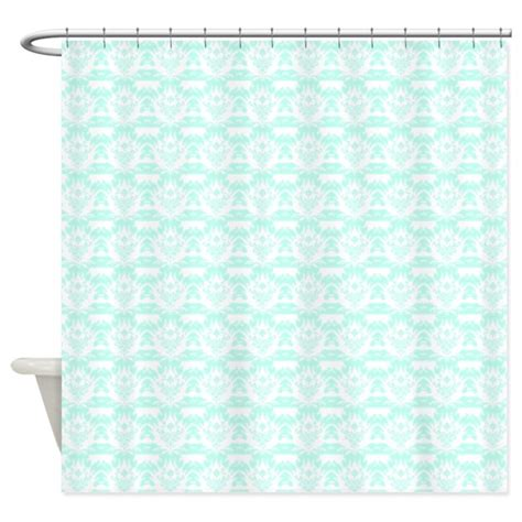 Mint Colored Curtains Light Mint Damask Shower Curtain By Showercurtainsworld