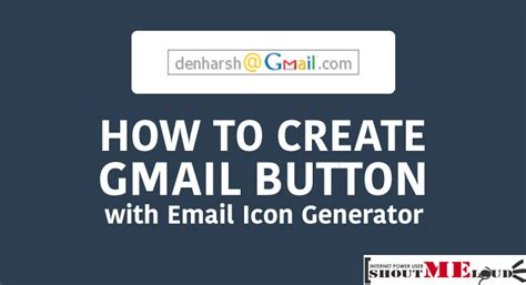 email format generator how to create gmail button with email icon generator