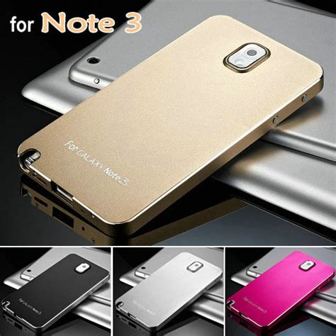 Casing Hp Samsung Note 3 Note 4 Anti Anticrack aliexpress buy cool luxury aluminum for samsung galaxy note 3 iii n9000 matte