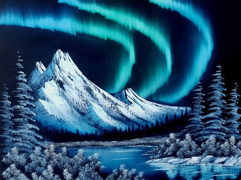 northern lights painting for sale bob ross paintings northern lights pixshark com
