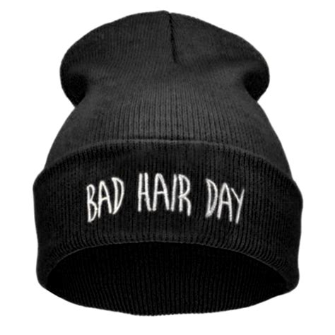 Beanie Sport Winter Bad Hair Day Beanie Cap Hat Beanie Knitted Win s hat hip hop with letter bad hair day beanie wool