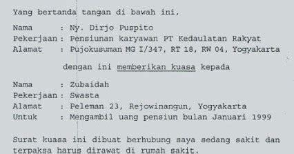 Surat Kuasa Untuk Tax Amnesty by Contoh Surat Kuasa Wajib Pajak Contoh 317