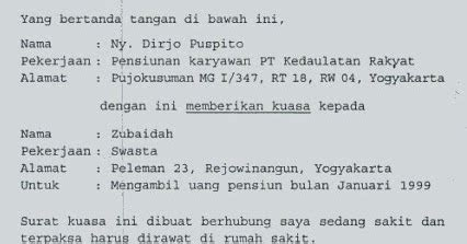Surat Kuasa Tax Amnesty by Contoh Surat Kuasa Wajib Pajak Contoh 317