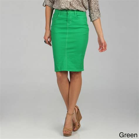 colored denim skirts colored jean skirts skirt ify