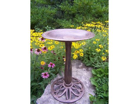 oakland living upland cast aluminum bird bath 5991 ab