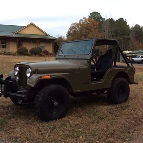 jeep cj   cylinder  tires winch light bar  classic jeep cj   sale