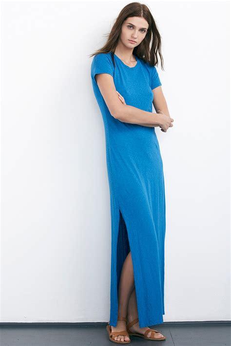 Zigy Maxi lyst velvet by graham spencer ziggy cotton slub maxi dress in blue