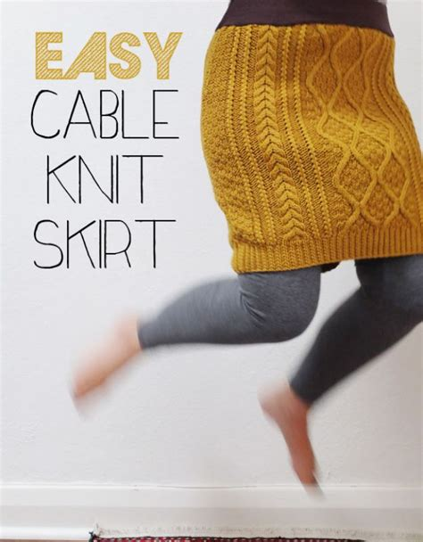 cable christmas skirt 34 diy clothes for winter