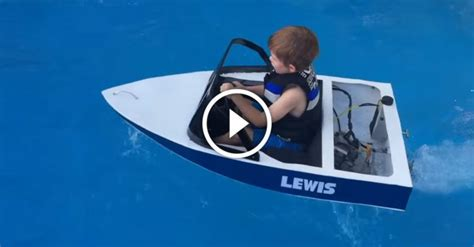awesome toy jet boat dad builds awesome miniature gas powered ski boat for kids