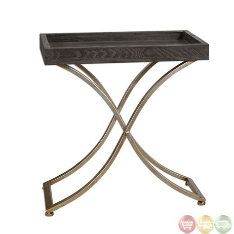 tray accent table valli ebony stained tray top accent table 24240