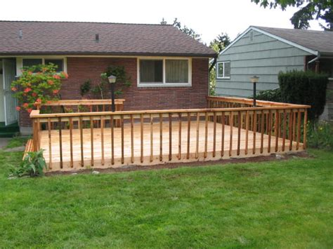 Images Of Backyard Decks by Fences Decks Always Faithful Construction