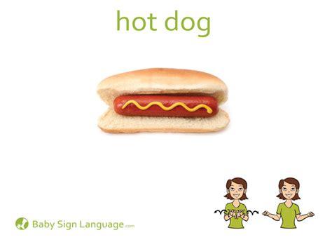 puppy in sign language hotdog