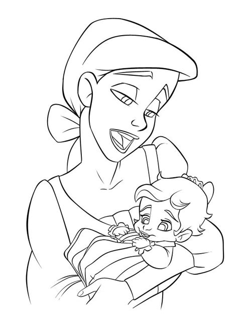 coloring page baby mermaid baby ariel and melody the little mermaid 2 melody
