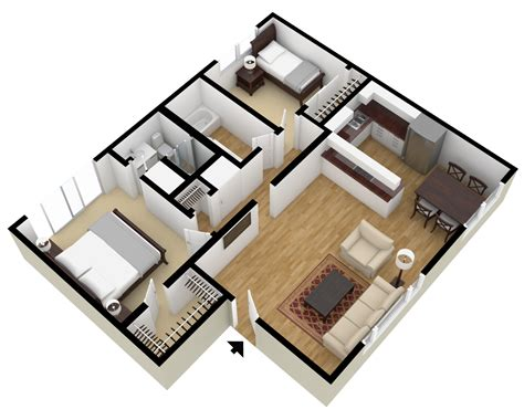 Open Floor Plans With Large Kitchens by Studio 1 Amp 2 Bedroom Floor Plans City Plaza Apartments