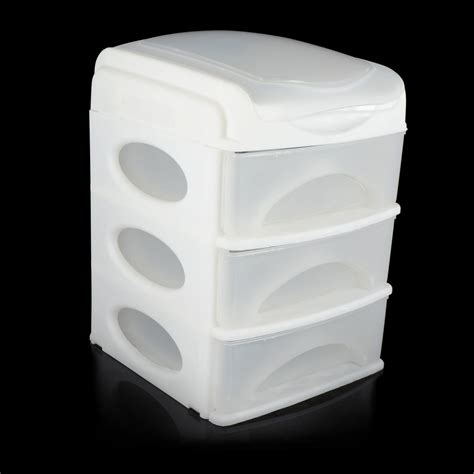 Small 3 Drawer Plastic Storage by New 3 Drawer Mini Desk Top Storage Trays Small Plastic