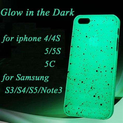 Hardcase Iphone Samsung Casing Iphone Samsung Glow In The luminous glow in the cover skin for iphone 4 4s 5 5g 5s 5c samsung s3 s4 s5 note2